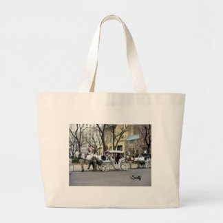 Chicago Carriage Ride Large Tote Bag
