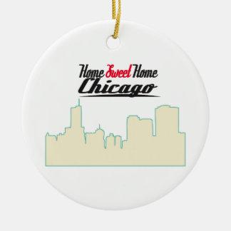 Chicago casera dulce casera adorno redondo de cerámica