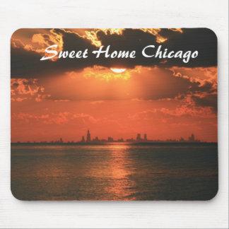 Chicago casera dulce alfombrillas de raton