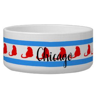 """""""Chicago Cat"""" Pet Bowl"""