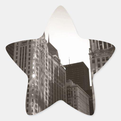 Chicago céntrica pegatina en forma de estrella