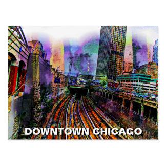 Chicago céntrica tarjetas postales