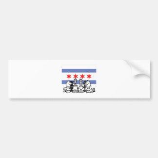 Chicago Chess Bumper Sticker