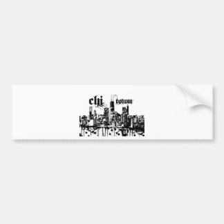 "Chicago ""chi-town"" put on for your city bumper sticker"