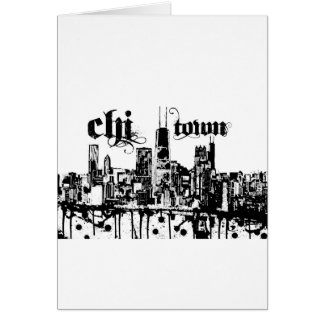 "Chicago ""chi-town"" put on for your city card"