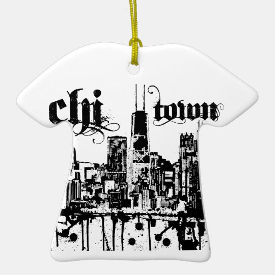 "Chicago ""chi-town"" put on for your city ceramic ornament"