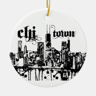 """Chicago """"chi-town"""" put on for your city ceramic ornament"""