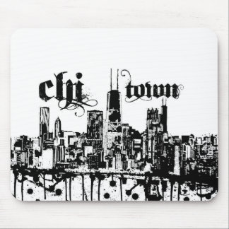"""Chicago """"chi-town"""" put on for your city mouse pad"""