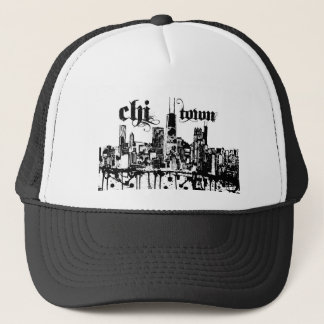 """Chicago """"chi-town"""" put on for your city trucker hat"""