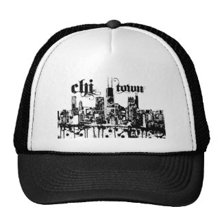"Chicago ""chi-town"" put on for your city trucker hat"