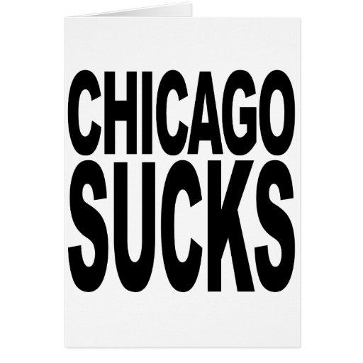 Chicago chupa felicitación
