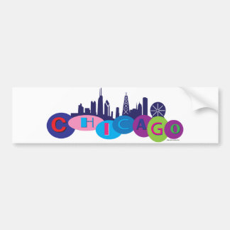 Chicago-Circles-1 Bumper Sticker