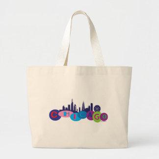Chicago-Circles-1 Jumbo Tote Bag