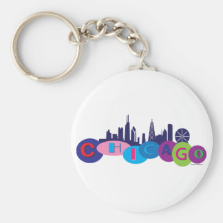 Chicago-Circles-1 Keychain