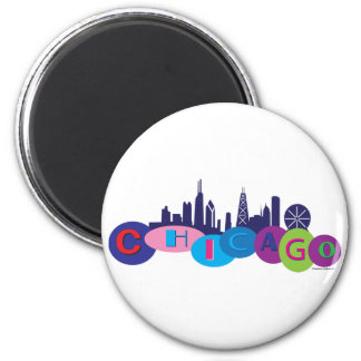 Chicago-Circles-1 Magnet