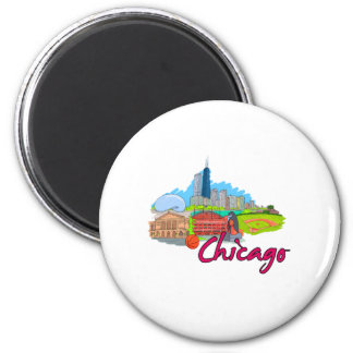 chicago city  2 travel graphic.png refrigerator magnet