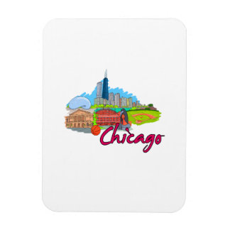 chicago city  2 travel graphic.png rectangular magnet