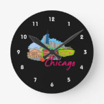 chicago city  2 travel graphic.png wall clock