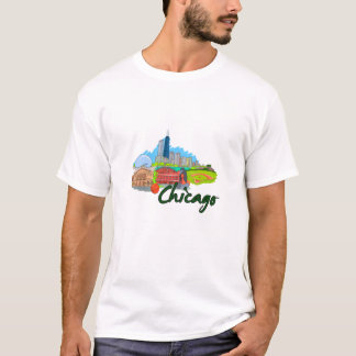 chicago city  3  travel graphic.png T-Shirt