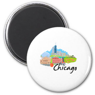chicago city  4 travel graphic.png fridge magnet