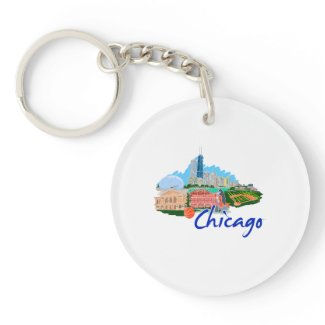 chicago city 5 travel graphic.png acrylic keychains