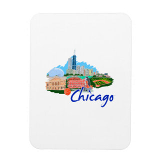 chicago city  5 travel graphic.png rectangular magnet