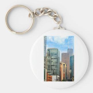 Chicago City Basic Round Button Keychain