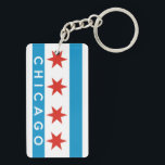 "chicago city flag america text name keychain<br><div class=""desc"">chicago city flag america text name</div>"