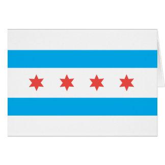 Chicago city flag card