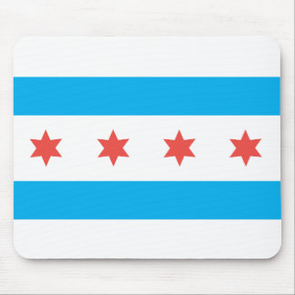 Chicago city flag mouse pad