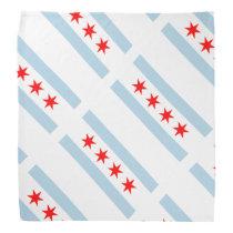 Chicago city flag pattern custom bandana