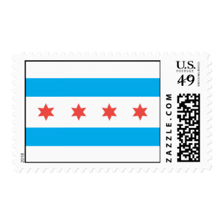 Chicago city flag postage