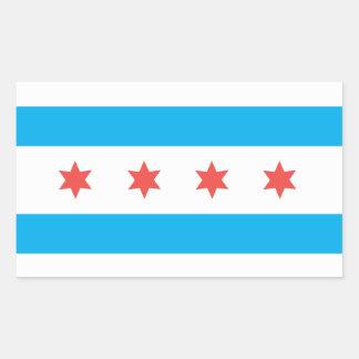 Chicago city flag rectangular sticker