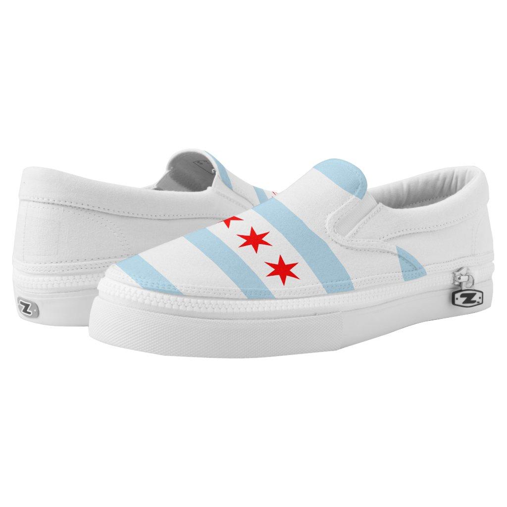 Chicago city flag Slip-On sneakers