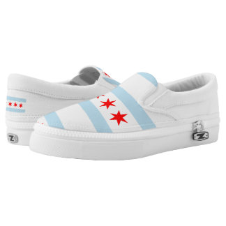 Chicago city flag Slip-On sneakers