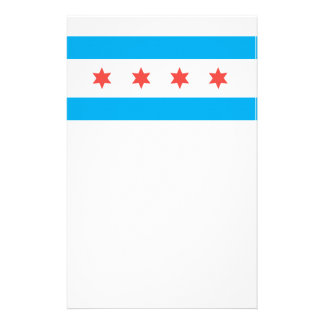 Chicago city flag personalized stationery