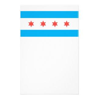 Chicago city flag stationery