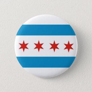chicago city flag usa america pinback button