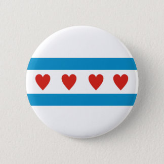 chicago city love flag hearts usa united states am pinback button