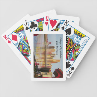Chicago..City of Gold Bicycle Playing Cards