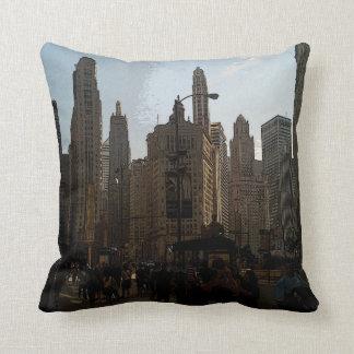 Chicago City Scene Pillow