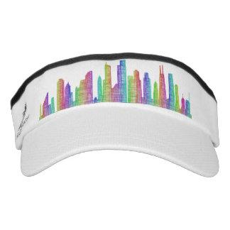 Chicago city skyline visor