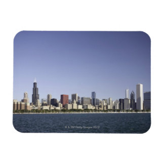 Chicago city skyline with Lake Michigan 2 Magnet