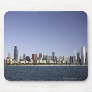 Chicago city skyline with Lake Michigan 2 Mouse Pad