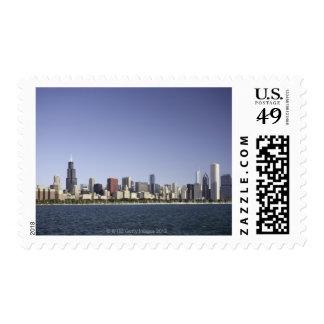 Chicago city skyline with Lake Michigan 2 Postage