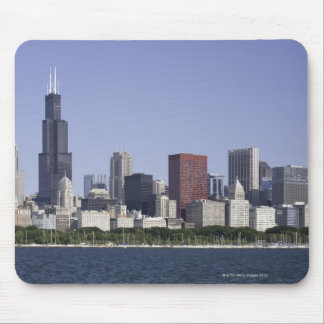 Chicago city skyline with Lake Michigan Mouse Pad