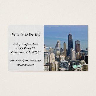 Chicago city skyscrapers business card