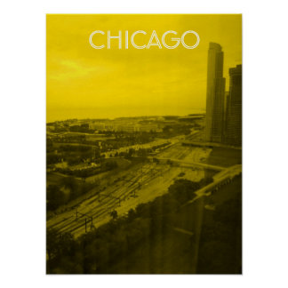 Chicago City View Poster