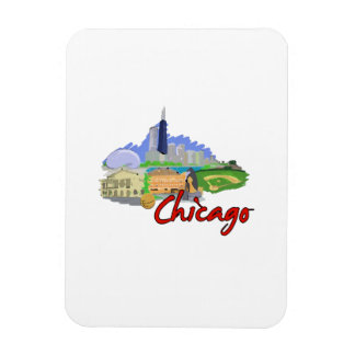 chicago city watercolor  travel graphic.png rectangle magnets
