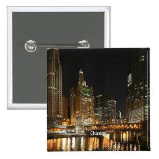 Chicago cityscape button